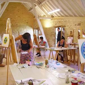 Dessin, peinture, mandala, collage, créativité à l'Atelier du Laurier Rouge