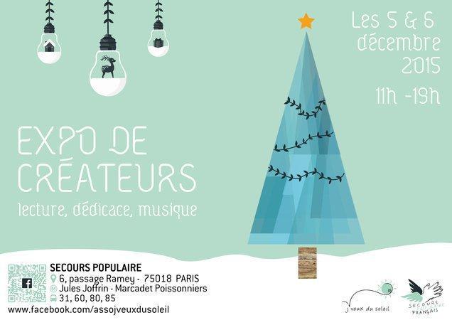 """Exposition de créateurs """"En attendant Noël"""" avec J'veux du Soleil les 5 & 6 décembre 2015"""