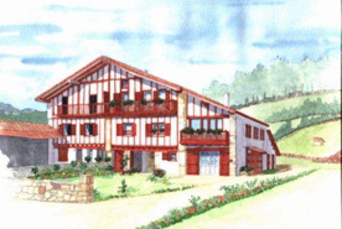Ga lle mersch aquarelles du pays basque arbonne 64210 - Maison close pays basque ...