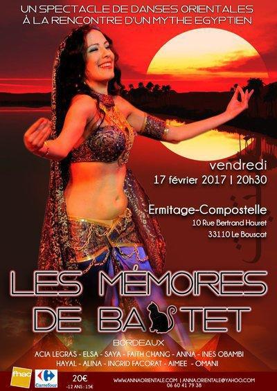 """Grand spectacle de danse orientale """"LES MEMOIRES DE BASTET"""" à Bordeaux"""