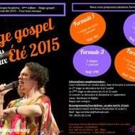 Stages gospel été 2015 pour tous niveaux - Bordeaux Gospel Academy