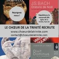 Le Choeur de la Trinité recrute des chanteurs amateurs motivés (Eglise de la Trinité, Paris 9e)