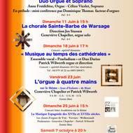 La chorale St Barbe de Warsage et Geneviève Chapelier Orgue